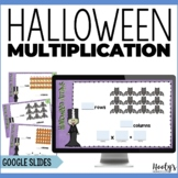 Multiplication Arrays Digital Task Cards | Halloween Math
