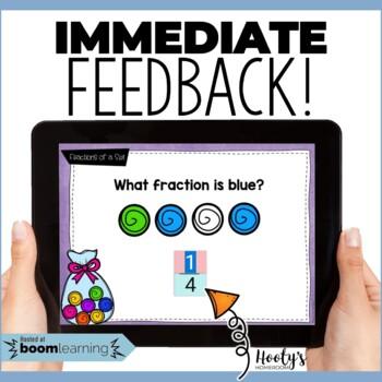 Identifying Fractions of a Set Digital Task Cards