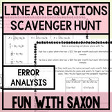 Linear Equations Error Analysis Scavenger Hunt!