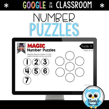 Magic Number Puzzles - Digital Task Cards
