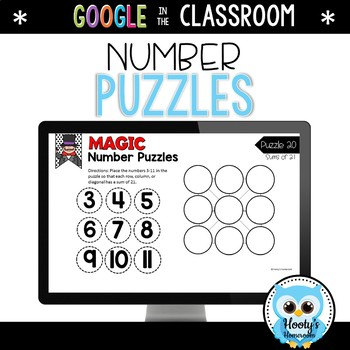 Magic Number Puzzles - Digital Task Cards