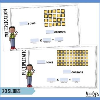 Multiplication Arrays Digital Task Cards for Google Apps