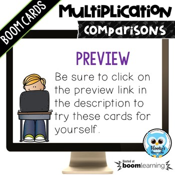 Multiplication Comparisons Digital Task Cards