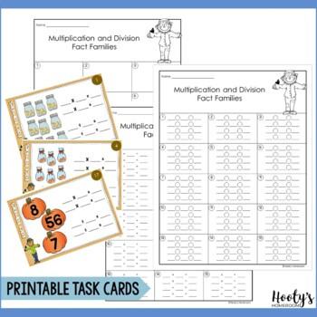 Multiplication & Division Fact Families Digital Task Cards