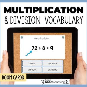 Multiplication & Division Vocabulary - Digital Task Cards