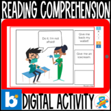 Reading Comprehension Boom Cards 2 Retro Clipart 1st-2nd.
