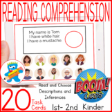 Reading Comprehension Boom Cards Descriptions Speech Therapy