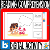 Reading Comprehension Boom Cards 1 Retro Clipart 1st-2nd.