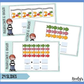 Relating Multiplication & Division Digital Task Cards - Google Apps