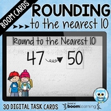 Rounding to the Nearest 10 Boom Cards