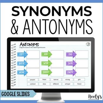 Synonym and Antonym Paperless Practice Using Google Apps