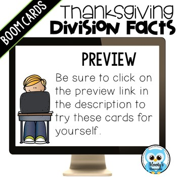 Thanksgiving Division Fluency Digital Task Cards