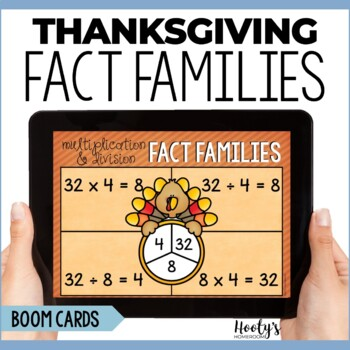 Thanksgiving Multiplication & Division Fact Families