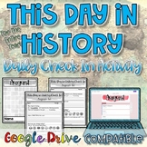 This Day in History-Daily Check In Activity {Digital AND Paper}