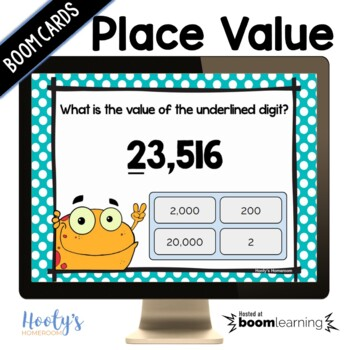 Value of Digits - 4 & 5 Digit Numbers: Digital Task Cards