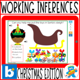 Working on Inferences Christmas Boom Cards Speech Therapy SLP SPED