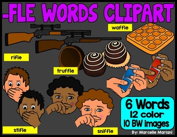 FINAL STABLE SYLLABLES -FLE ENDING WORDS CLIP ART
