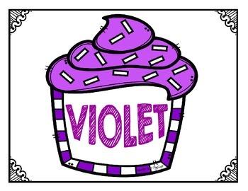 * FOLLOWER FREEBIE * Les mots de couleur  {Colour Cupcakes}