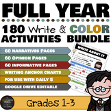 Harry Potter Themed Classroom - Write and Color Writing Pr