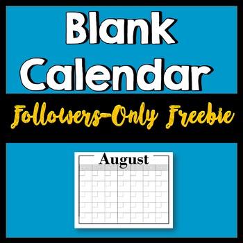 [FOLLOWERS-ONLY FREEBIE] Low-Frills Blank Calendar -- No Clip Art