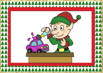 ***FREE***10 Little Elves SONG FLASHCARDS only