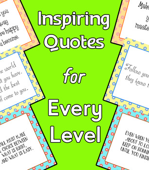 [FREE] 20 inspiring quotes for every level | Classroom Decoration |