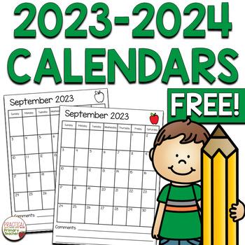 2018-2019 Calendars FREEBIE