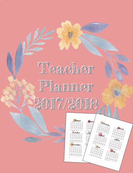 *FREE* 2017-2018 Teacher Planner in Floral