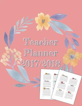 UPDATED -- *FREE* 2018-2019 Teacher Planner PDF in Floral
