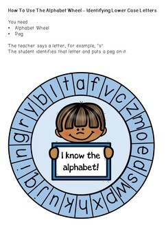 Alphabet Wheels - Letter ID, Initial Sounds
