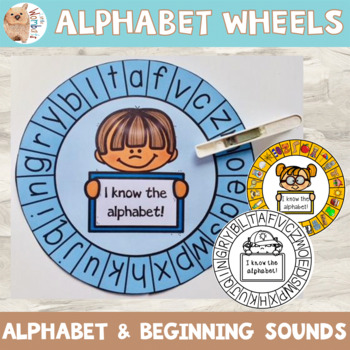 Alphabet Wheels - Letter ID, Initial Sounds, Learning Alphabet