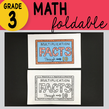 *FREE* 3rd Grade Math Multiplication Facts Through 10 Foldable by Math Doodles