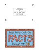 Doodle Notes - *FREE* 3rd Grade Math Multiplication Facts Through 10 Foldable