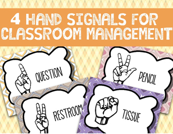 [FREE] 4 Hand Signal Signs | Classroom Management |