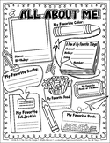 FREE All About Me Activity Worksheet Template {Zip-A-Dee-Doo-Dah Designs}