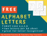 [FREE] Alphabet Block Letters - Small Case for a, b, n and u
