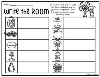 *FREE* Apple Orchard Write the Room