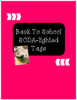 *FREE* Back to School SODA-lighted Tags