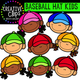 {FREE} Baseball Hat Kids {Creative Clips Digital Clipart}