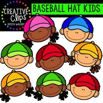 {FREE} Baseball Hat Kids {Creative Clips Digital Clipart}