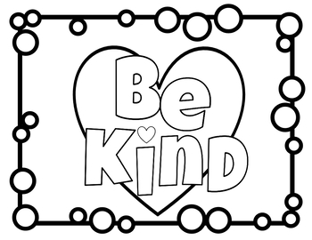 {FREE!} Be Kind Coloring Page by So Blessed to Be a ...