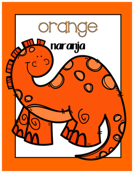 {FREE} Bilingual Dinosaur Color Posters