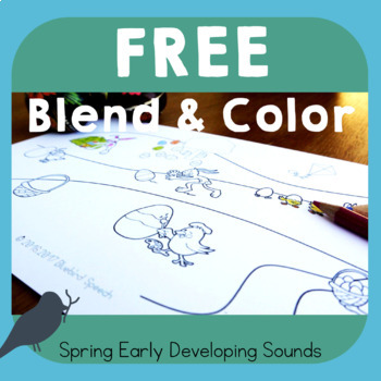 *Free* Blend & Color Phonemic Awareness of Spring/Easter Early Developing Sounds