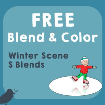 *FREE* Blend & Color Phonemic Awareness of Winter S-Blends