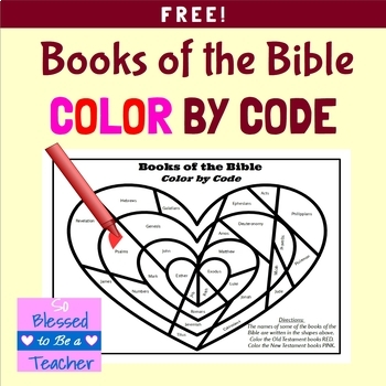 {FREE!} Books of the Bible Color By Code Coloring Page
