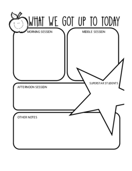 *FREE* CASUAL RELIEF TEACHER END OF DAY PLANNING FEEDBACK DAY SHEET