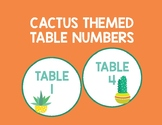 **FREE** Cactus Themed Table Numbers