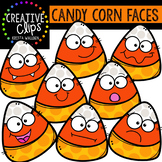 {FREE} Candy Corn Faces {Creative Clips Digital Clipart}