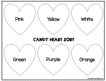 *FREE* Candy Heart Sort Mat