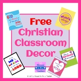 {FREE!} Inspirational Christian Classroom Posters